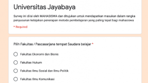 Survey Pembelajaran di Masa COVID 19 Universitas Jayabaya
